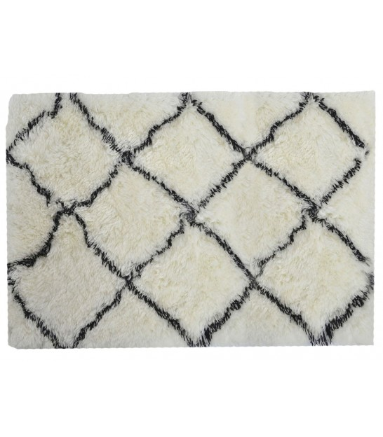 Rug 100% Polyester White and Black - 120*180cm