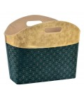 Magazine Holder Green and Gold