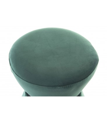 pouf velours vert repose pieds. Black Bedroom Furniture Sets. Home Design Ideas
