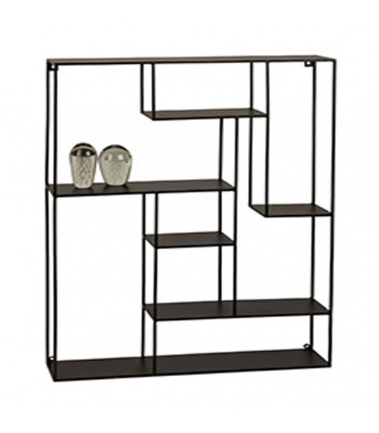 Go Home Black Industrial Kitchen Cart At Lowes Com: Black Metal Wall Shelf