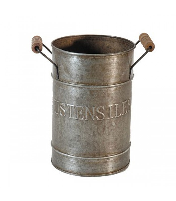 Kitchen Storage Utensils Pot Zinc And Wood