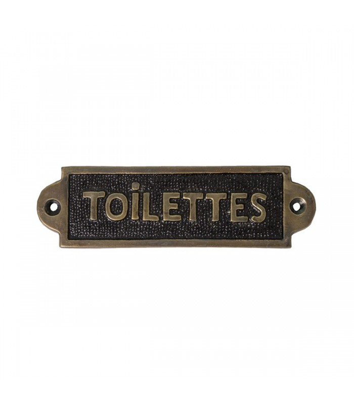 plaque de porte toilettes signal tique vintage aluminium. Black Bedroom Furniture Sets. Home Design Ideas