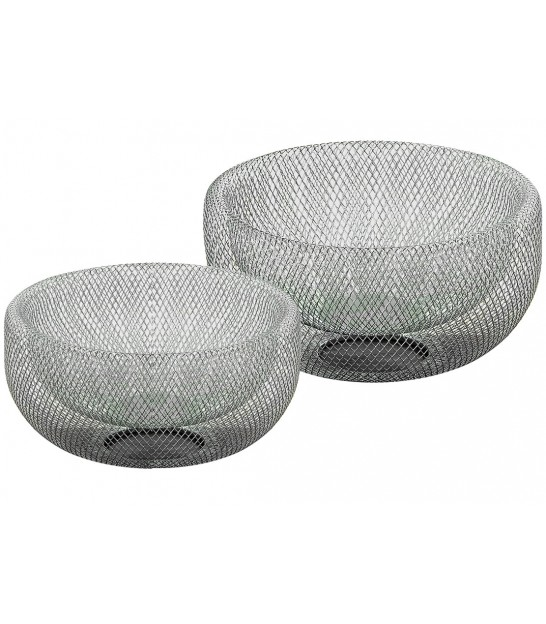 Set of 2 Decorative Fruits Baskets White
