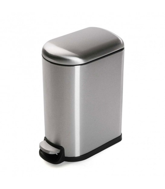 Bathroom Bin Chrome Metal 10 Liters