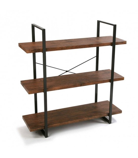 Shelf Wood and Black Metal - Height 141.5 cm