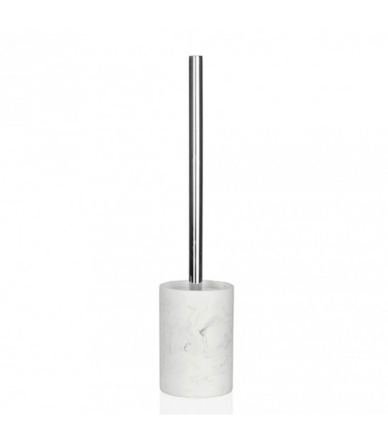Toilet Brush Resin White Marble Effect