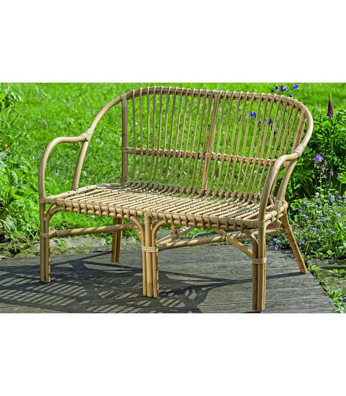 rattan bench length 110cm