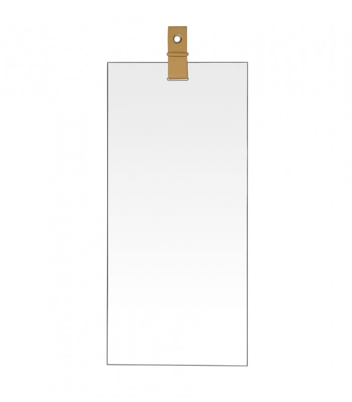 Miroir rectangulaire suspendu lani re cuir - Miroir suspendu porte ...