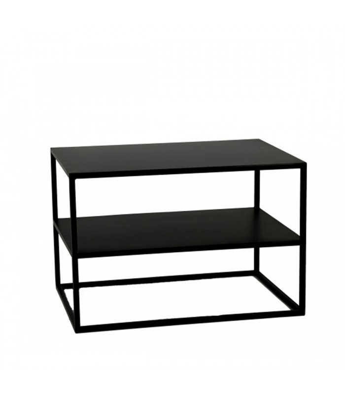 table basse en m tal noir longueur 60cm x largeur 40cm x. Black Bedroom Furniture Sets. Home Design Ideas