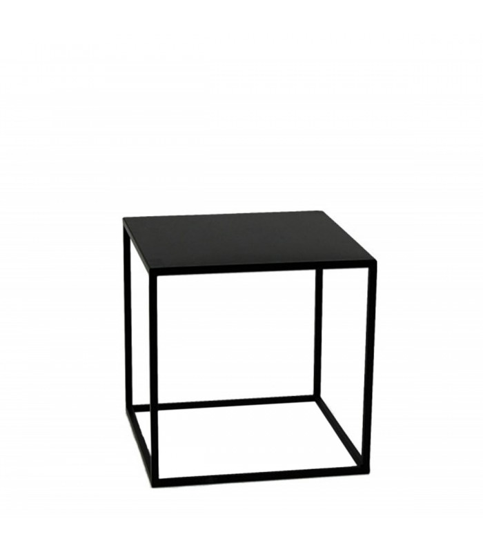 Table d 39 appoint carr e bout de canap m tal noir 40x40x40cm - Table d appoint carree ...