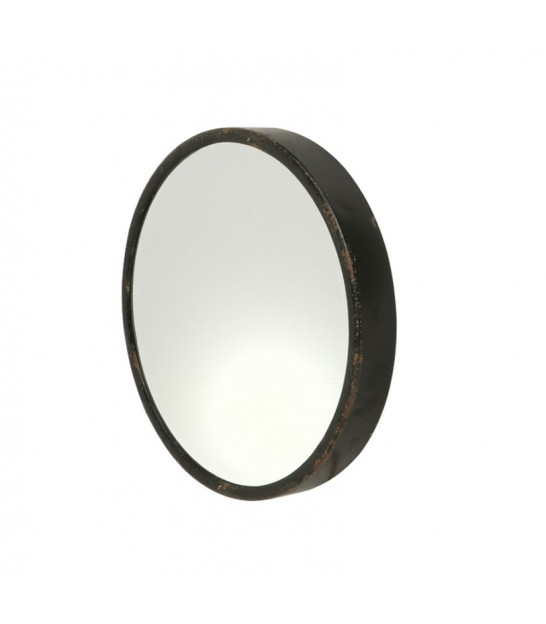 Round Mirror Black Metal - Diameter 26cm
