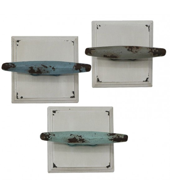 Set of 3 Coat Hooks Mooring Cleat