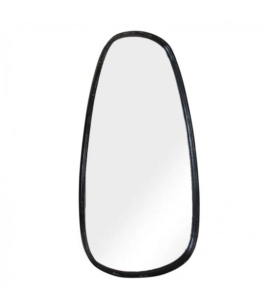 Wall Mirror Gold Oval - Height 70cm