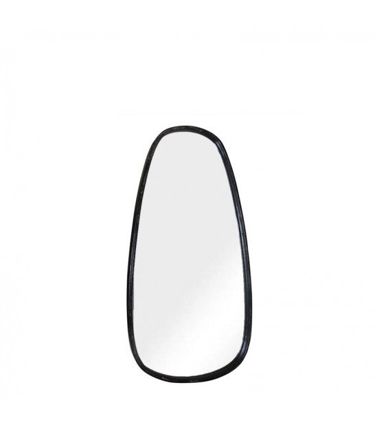 Wall Mirror Black Oval - Height 45cm