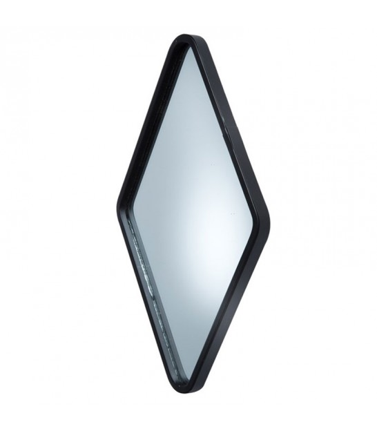 Wall Mirror Diamond Black Metal