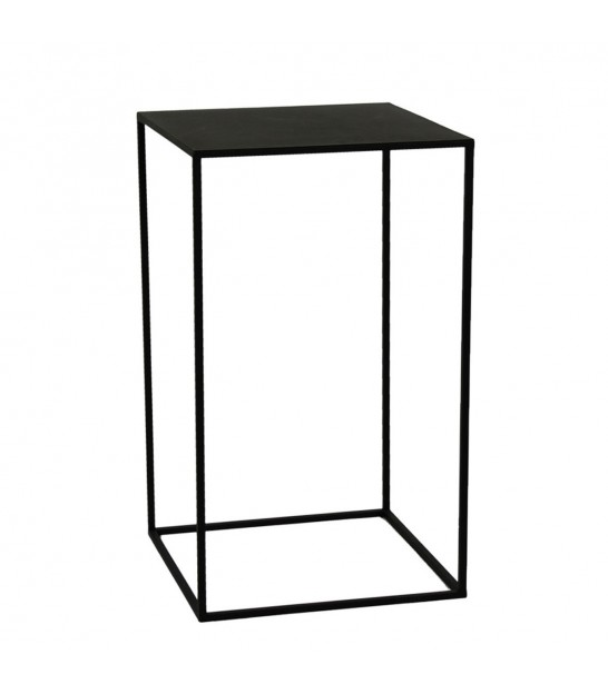 Set de 2 Sellettes/Tables d'Appoint en Métal Noir