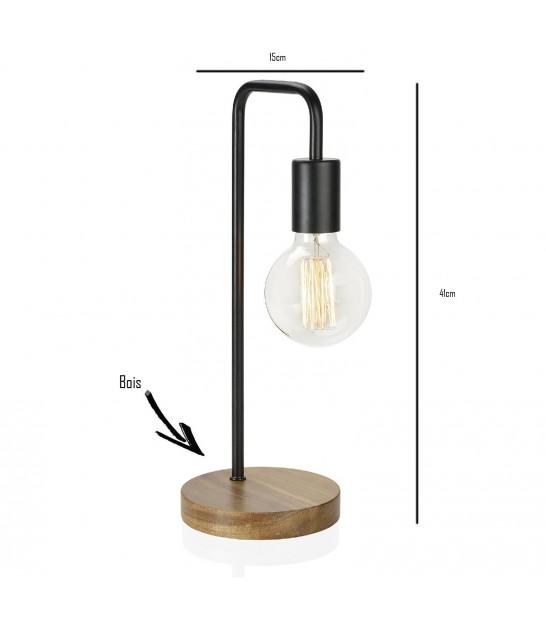 Wood and Brass Design Table Lamp