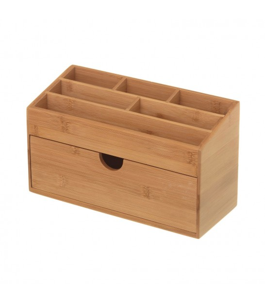 Bathroom Bamboo Make Up Organizer 1 Drawer