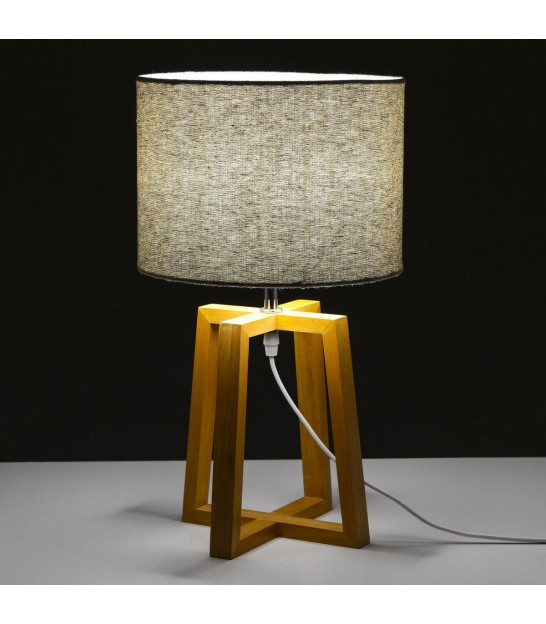 Wooden Triangle Design Table Lamp