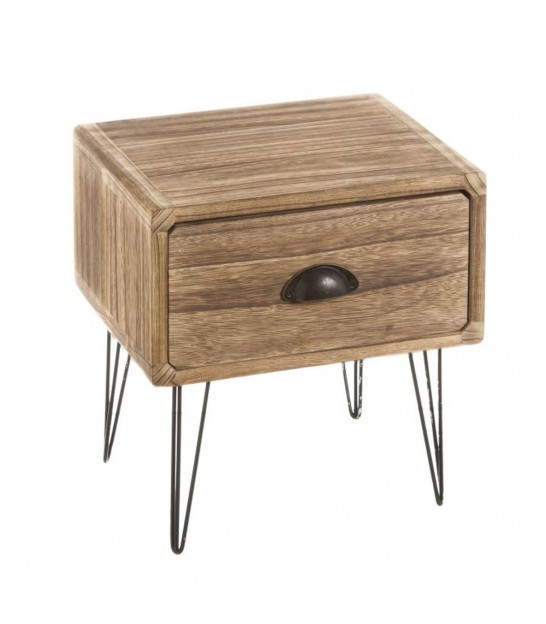 Bedside Table 1 Drawer Pawlonia