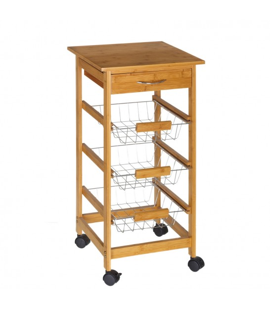 Kitchen Side Table on Wheels