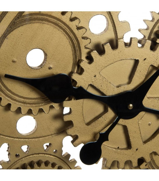 Golden Square Wall Clock with Clockworks
