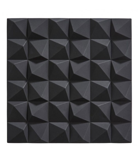 Dessous de Plat Design Triangles Silicone Noir