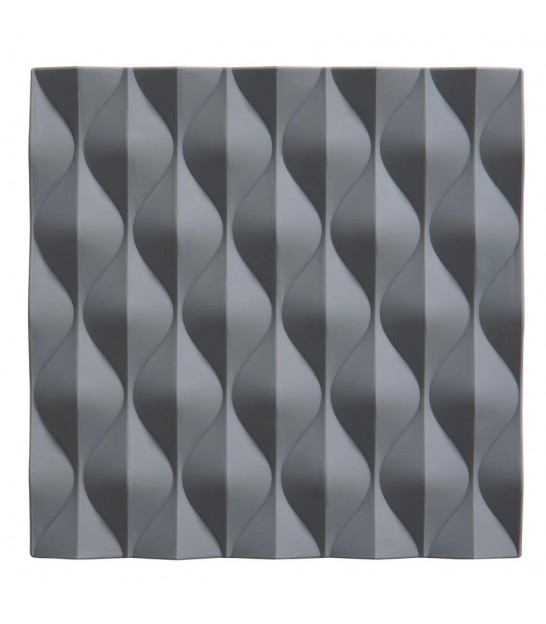Trivet Grey Silicone Waves
