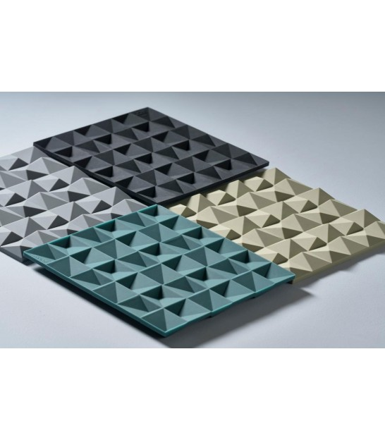 Trivet Black Silicone Waves