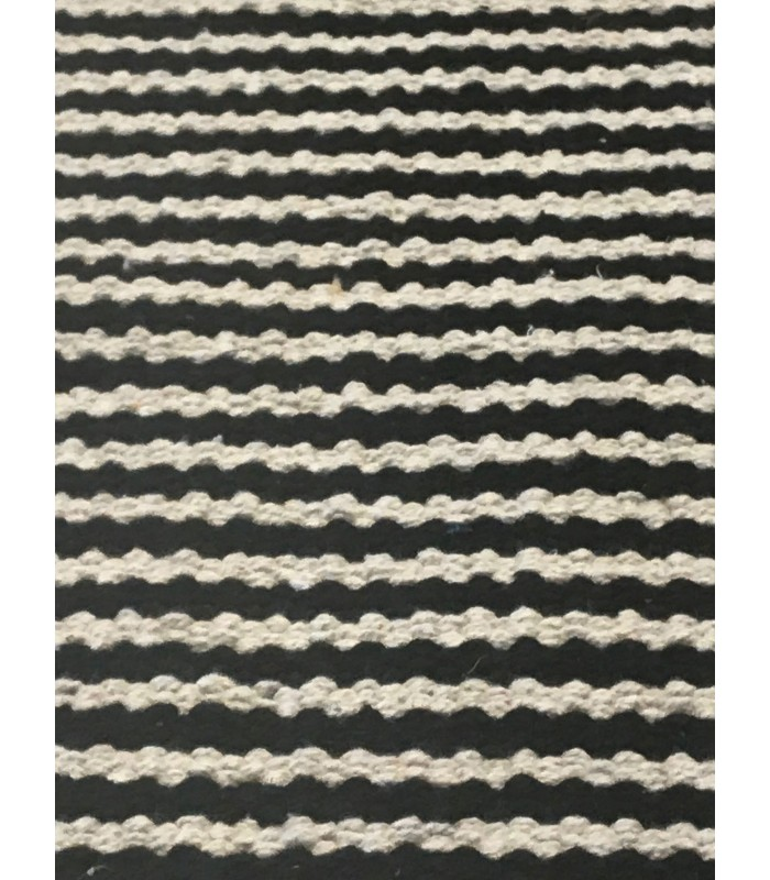 Bath Mat 100% Cotton Stripes Black And Beige. Tapis De Bain En Coton Rayé  Noir ...
