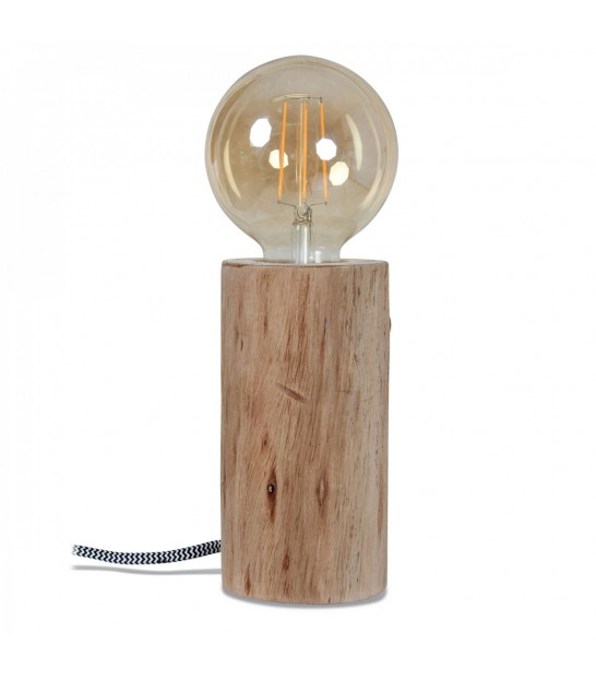 Nature Wood Lamp - Diameter 9.5cm x Height 16cm