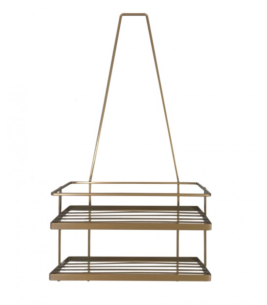 Shower Caddy Gold Metal
