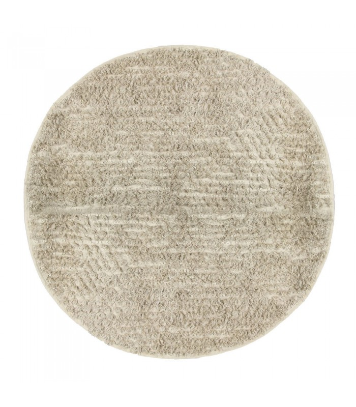 tapis rond 100 coton beige diam tre 160cm. Black Bedroom Furniture Sets. Home Design Ideas
