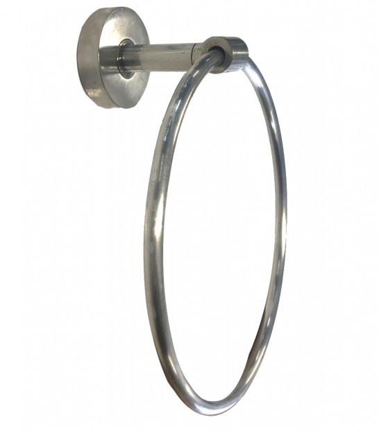 Wall Round Towel Holder Silver