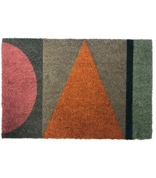 Multicolor Geometric Doormat 60cm x 40cm