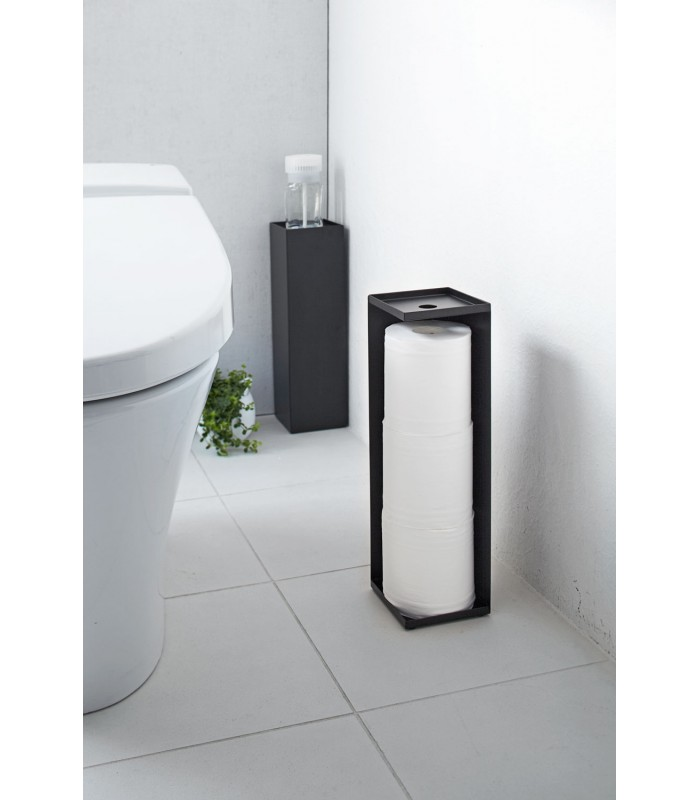 rangement stock rouleaux papier toilette noir. Black Bedroom Furniture Sets. Home Design Ideas