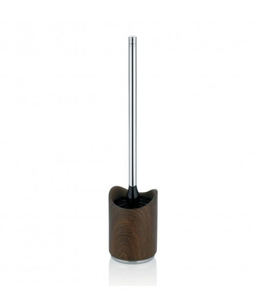 Toilet Brush Walnut and Stainless Steel