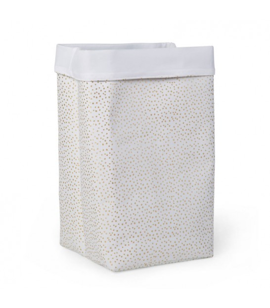 Laundry Basket Polyester Gold Dots