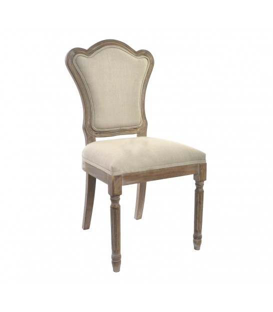 Classic Chair in Wood and Fabric