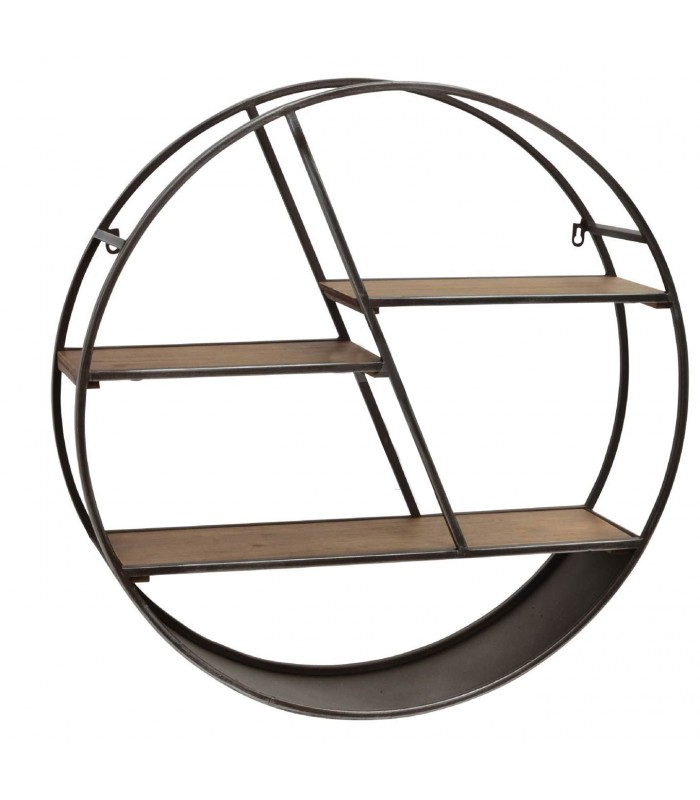 awesome etagere murale ronde bois images. Black Bedroom Furniture Sets. Home Design Ideas
