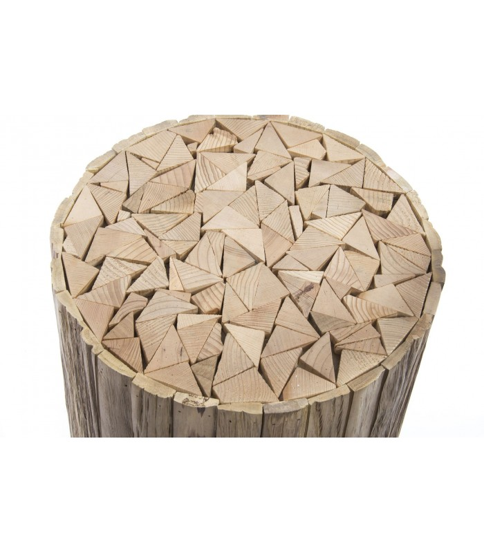 Round Side Table Wood Nature
