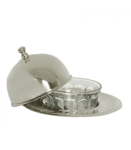 Butter Dish Silver Plated