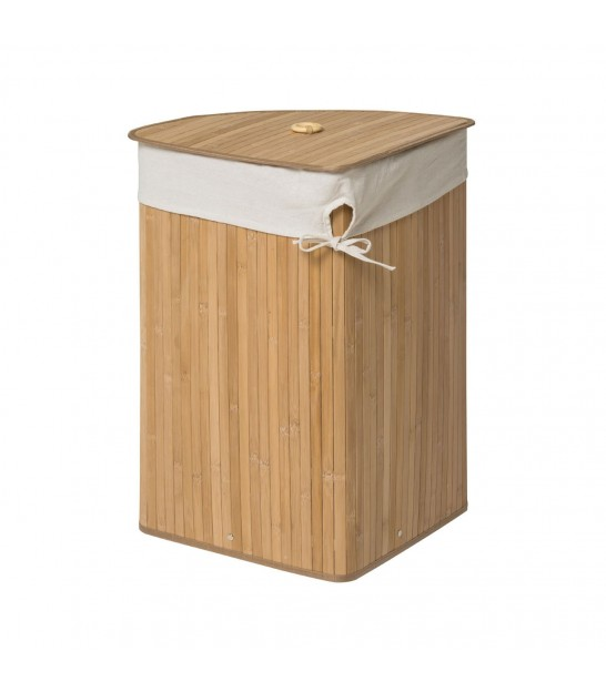 Corner Laundry Basket Brown Bamboo