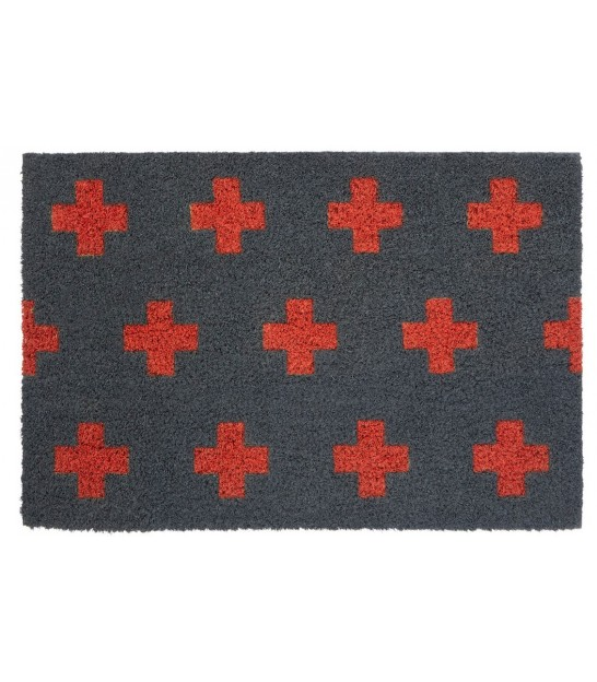Neon Crosses Coco Doormat