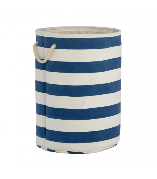 Nautical Laundry Basket Blue and White