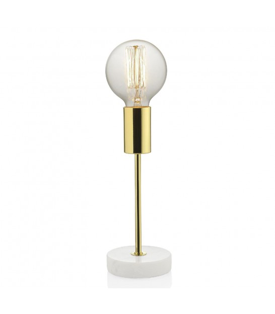 Design Table Lamp Marble and Golden Metal