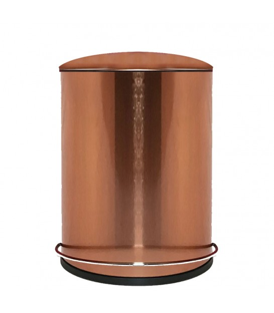 Bathroom Dust Bin Metal Copper - 5L
