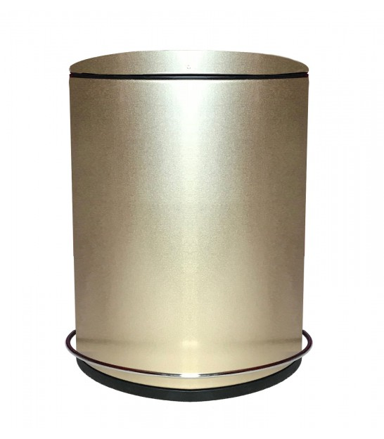 Bathroom Dust Bin Metal Gold - 5L