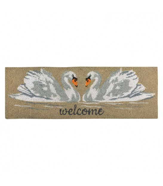 Paillasson Coco Cygnes Welcome - 75x25cm