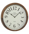 Round Wall Clock Wood - Diameter 32cm